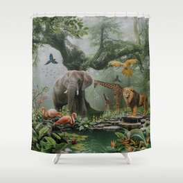 Project Paradise Shower Curtain