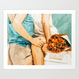 Romance #painting #love Art Print