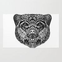 "ethnic Area & Throw Rugs featuring ""Ethnic Bear"" by beart24"