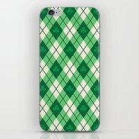 irish iPhone & iPod Skins featuring Irish Argyle by Fimbis