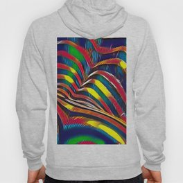2602s-AK Nude Body Back Striped Abstraction Bright Color Pastel by Chris Maher Hoody
