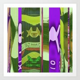 Clemson in Lauryn Art Print