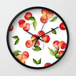Bowl of Cherries Wall Clock
