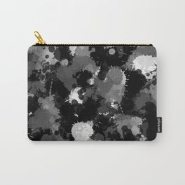 Black White and Grey Paint Splatter Carry-All Pouch