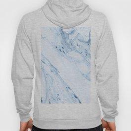White & Blue-Gray Marble Hoody