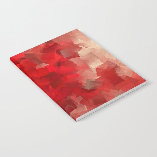 red modern pattern Notebook
