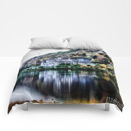 A Castle in Reflection Comforters