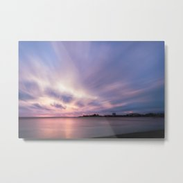 Pastel Color Sunset at Anse Vata Bay in New Caledonia. Metal Print