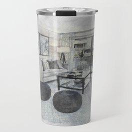 Living Room Interior Furniture Travel Mug