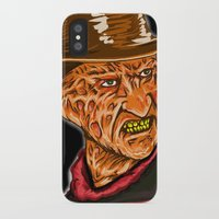 freddy krueger iPhone & iPod Cases featuring Freddy Krueger by Art of Fernie