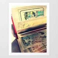 Sendak Pages Art Print