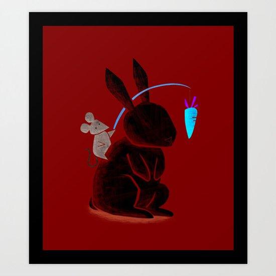 Bunny Rider Art Print