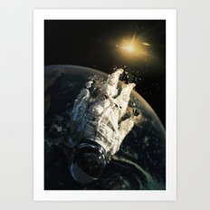 floating in the abyss Art Print