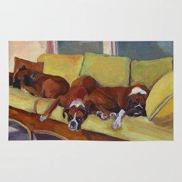 Boxer Dog Siesta Rug