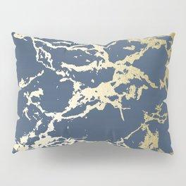Kintsugi Ceramic Gold on Indigo Blue Pillow Sham