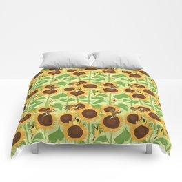 Sunbathing Meadowlarks Comforters