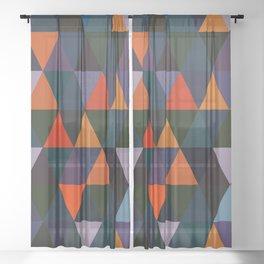 Abstract #296 Sheer Curtain