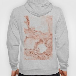 Living Coral Rose Gold  Glitter Veins on Marble Hoody