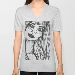 White Eyes Unisex V-Neck