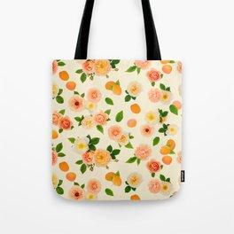Apricot Rose in Lemon Sorbet Tote Bag