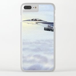 F-15 Eagle Aircraft Clear iPhone Case