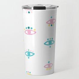 Eyes - Illustration pattern Travel Mug