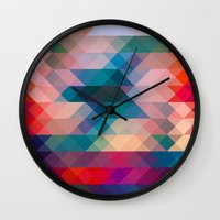triangle Wall Clocks featuring TRIANGLE by Hands in the Sky