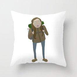Malika the German Throw Pillow