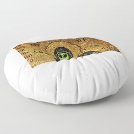 Byzantine Virgin Alien and Child Floor Pillow
