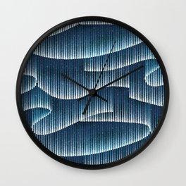 Aurora Borealis_Sky Blue Lights Wall Clock