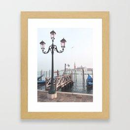 Venetian evening Framed Art Print