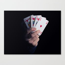 royal flush Canvas Print