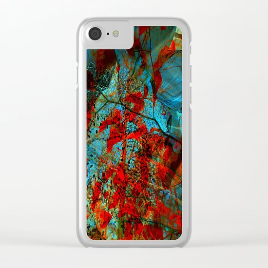 fantasy nature in colors Clear iPhone Case