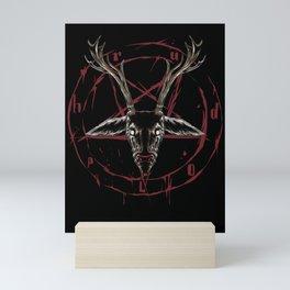 Reindeer Pentagram - Satanic Christmas Mini Art Print