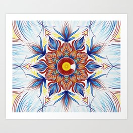 Colorado Mandala  Art Print