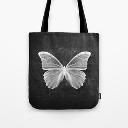 Butterfly in Black Tote Bag
