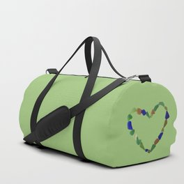 And the Greatest of These is Love #heart #seaglasssmiles Duffle Bag