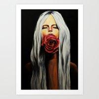 Silencio en Rojo Art Print
