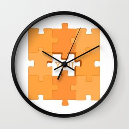 Puzzle for couples Wall Clock