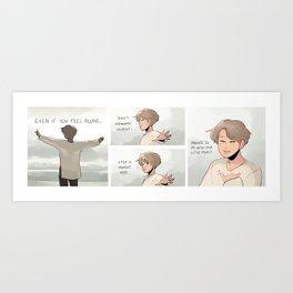 bts: jimin's promise Art Print