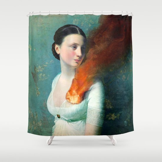 Portrait of a Heart Shower Curtain