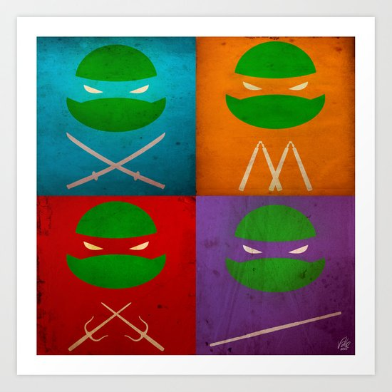 TMNT Collection Art Print