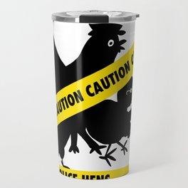 Police Hens Silhouette Travel Mug