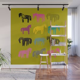 Colorful ponies Wall Mural