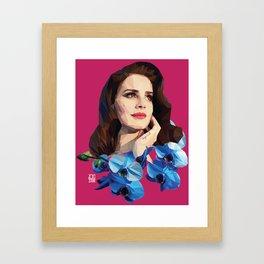 Del rey Framed Art Print