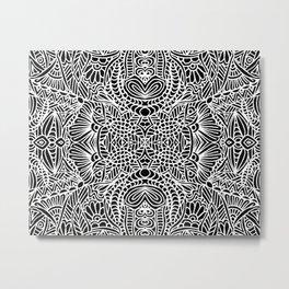 Zentangle 002 Metal Print