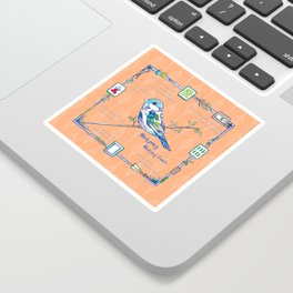 Sparrow Mahjong in Orange Sticker