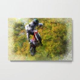 Extreme Biker - Dirt Bike Rider Metal Print