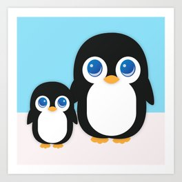 Adorable Penguins Art Print