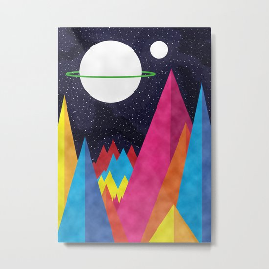 Space Night Metal Print